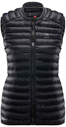 Mujer true Chaqueta Fibra Essens de Haglöfs black Capucha Mimic magnetite con wS8Enq0