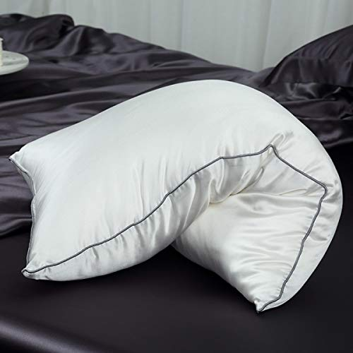 Orose Silk Filled Pillows with 100% 19momme Silk Shell, Breathable & Fluffy (100% Silk, -