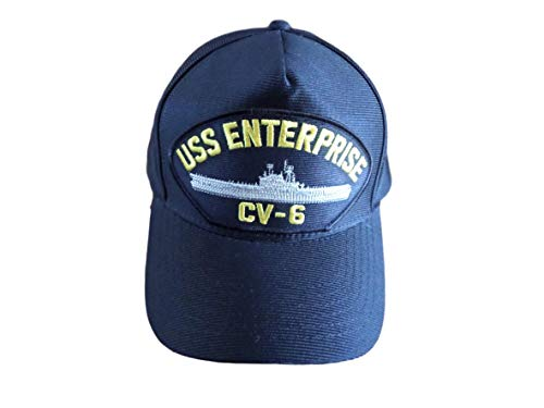 USS Enterprise CV-6 Navy Ship HAT U.S Military Official Ball Cap U.S.A Made