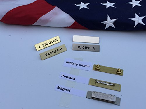 graved Metal Police Fire Military by Better Badges (Silver Metal Name Tag)