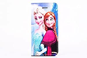 New Disney Frozen Cartoon Leather Case With Card Slot Wallet Case Skin Cover For Iphone 6 Plus 5.5 inch-The Two Sisters