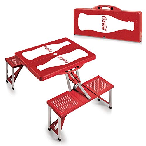 Jur_Global Coca-Cola Bottle Picnic Table Sport Portable Folding Table with Seats ()
