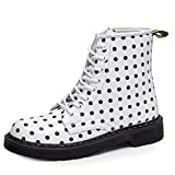 Womens Spring Autumn Martin Boots Lace Up Retro Casual Round Toe Short Ankle Boots