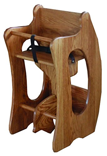 Heirloom High Chair (Toddler's 3-in-1 Oak Rocker, Desk, & High Chair)