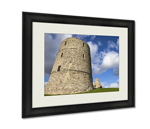 Ashley Framed Prints, Hadleigh Castle In Essex, Wall Art Decor Giclee Photo Print In Black Wood Frame, Ready to hang, 20x25 Art, AG6440950 - Hadleigh Castle