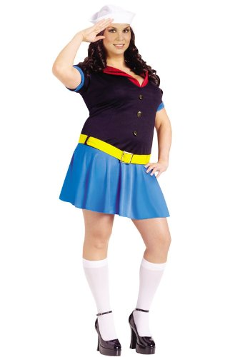 Ms. Popeye Costume - Plus Size 1X/2X - Dress Size 16-22 -