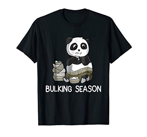 Bulking Season Panda - Funny Weightlifting Gym T-Shirt, used for sale  Delivered anywhere in USA