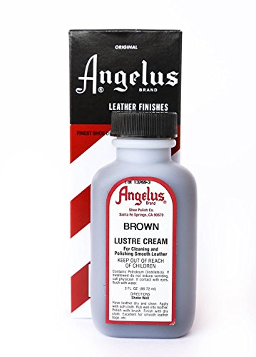 Angelus Lustre Cream Leather Finishes - 3 Ounces, (Cream Leather Finish)