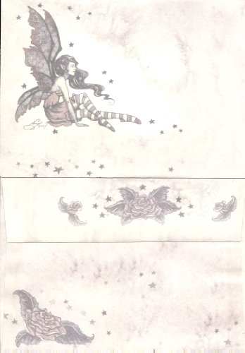 Amy Brown 24 Count Envelopes Fairy with Roses and Stars 7.25