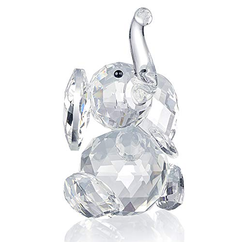 (SHINY HANDLES Crystal Ornaments,Crystal Paperweight Elephant,Crystal Figurines,Elephant Ornament for Crystal Animals Collector Fan,with Gift Box)