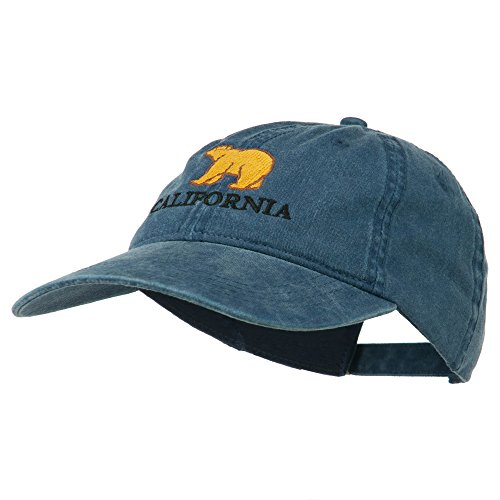 California with Bear Embroidered Cap