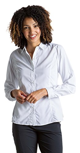 ExOfficio Women's BugsAway Brisa LS Shirt, White, Large