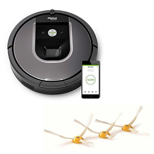 iRobot Roomba R960 Smart Vacuum with Wi-Fi Connectivity with 3 Pack Side Brush