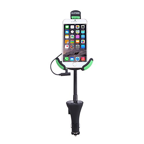 Htc Diamond Design Snap - Car Mount, Alloyseed 360 Degree Rotating with 3.1 Amp Car Mount Holder Car Phone Mount for iPhone 6S/6S Plus/6/6 Plus, Samsung Galaxy S7/S6 Edge