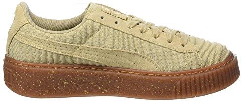 Puma Damen Basket Platform Ow Sneaker Beige (safari-safari-whisper Bianco)