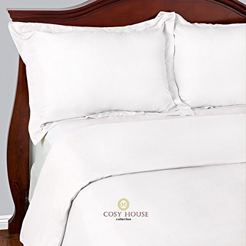 Brushed Polyester Cover (Best Duvet Covers Sets 3 Piece - 100% Microfiber - Most Durable Non-Rip Comforter Covers - Wrinkle-Free and Stain Resistant - Hypoallergenic Bedding Cover by Cosy House (Queen/Full,)