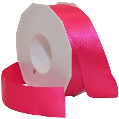 Morex Ribbon Neon Brights Satin, 1 1/2-inch by 50-yard, Neon Hot (Pink Ribbon Centerpiece)