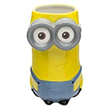 Zak Designs Minions Collectable Sculpted ceramic Mug In The Shape of Kevin BPA Free, 13 oz, Decorated