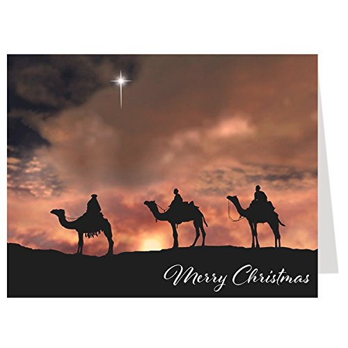 Three Wise Men, Religious Christmas Cards, Scripture, Jesus, Christian, Reason for the Season, Set of 24 Folding - Christmas Men Wise Cards Three