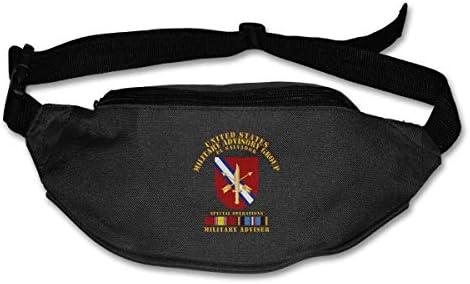 米国Milgrp W Svcエルサルバドルユニセックスアウトドアファニーパックバッグベルトバッグスポーツウエストパック