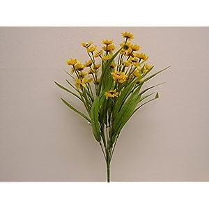 "Yellow Mini Sunflowers Bush Artificial Silk Flowers 19"" Bouquet 6178YL 112"
