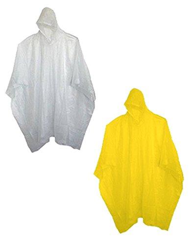 Sara Glove Adult 10 Mil Reusable Rain Ponchos (Sold in Packs of 1, 6, 12 & 48)