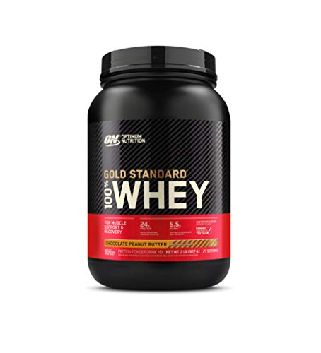 Optimum Nutrition Gold Standard 100% Whey Protein Powder, Chocolate Peanut Butter, 2 Pound (Packaging May Vary)