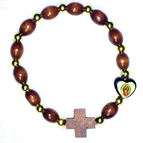1home Our Lady of Guadalupe Heart Rosary Bracelet