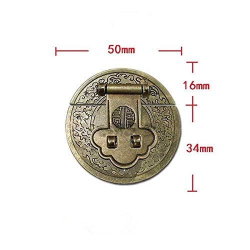 BIG-DEAL_Wholesale Antique Chinese Hardware Brass Flower Handle Lock Hasp Jewelry Wooden Box Locking Buckle Hasp Lock Latch for Furniture
