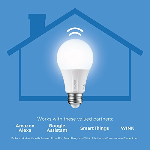 Sengled Smart LED Daylight A19 Bulb, Hub Required, 5000K 60W Equivalent, Works with Alexa, Google Assistant & SmartThings, 4 Pack by Sengled (Image #2)
