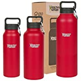 magnificent small kitchen plan Healthy Human Classic Collection Stainless Steel Vacuum Insulated Water Bottle | Keeps Cold 24 Hours, Hot 12 Hours | Double Walled Water Bottle | 40 oz Red Hot