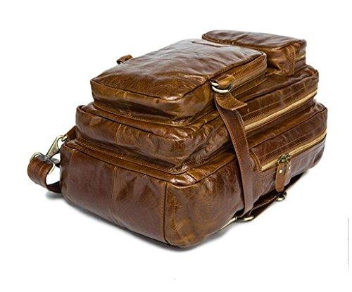 1 Men's travel School Bag Shoulder Casual Leather Man Bao Bag Bag retro messenger Bag multifunctional XwafnHq