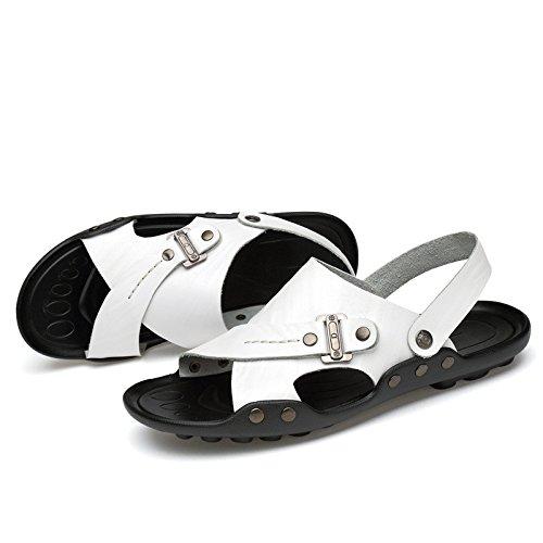 Sandali di estate dei nuovi uomini Nuovi sandali degli uomini dei sandali Tempo libero Sandali di grandi dimensioni, bianco, UK = 6.5, EU = 40