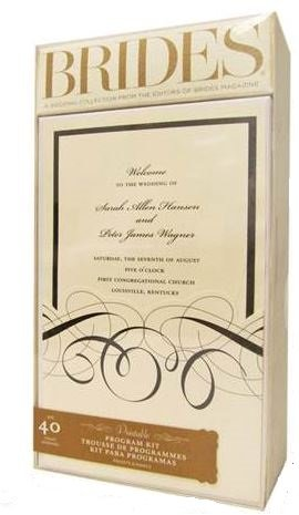 Brides Wedding Program Personalized Kit