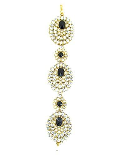 Hair Braid / Kundan Choti / Multi-Usable Hair Accessories / Jewelry / AZINBR043-GBK