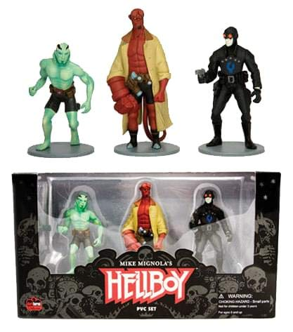 Dark Horse Comics - Hellboy pack 3 figurines 10 cm