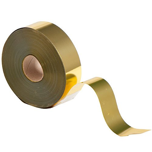 Shindigz Metallic Streamer 2 Inches by 400 Feet Gold Roll Party Supplies - Streamers Metalic