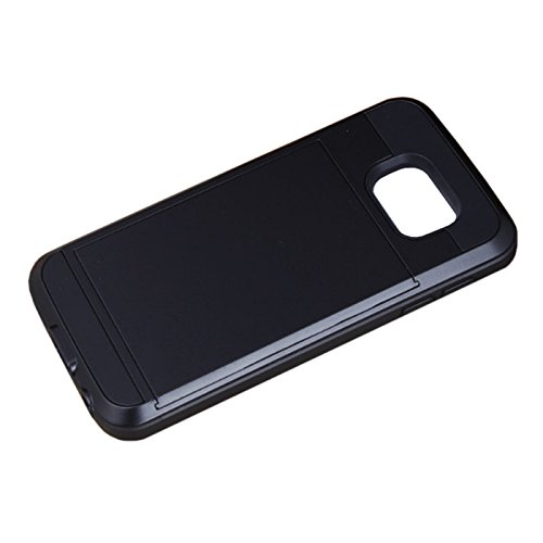Telefon-Kasten - TOOGOO(R)Karte Tasche Stossfeste Duenne Hybrid Mappe Abdeckung fuer Samsung Galaxy S7 Schwarz