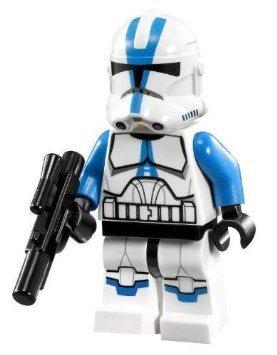 Lego Star Wars Minifigure 501st Legion Clone Trooper with Short Blaster from Set 75002 75004 (Lego Star Wars 501st)