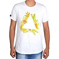 Camiseta Even Triângulo Floral Branca