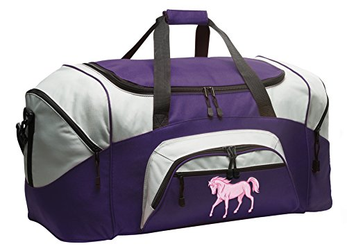 Horse Duffle Bag Horse Theme Gym Bags Purple ()