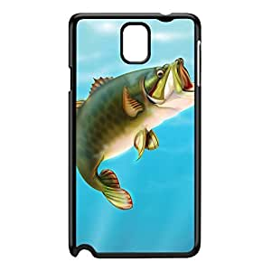 Karp Fish Black Hard Plastic Case for Galaxy Note 3 by Nick Greenaway + FREE Crystal Clear Screen Protector