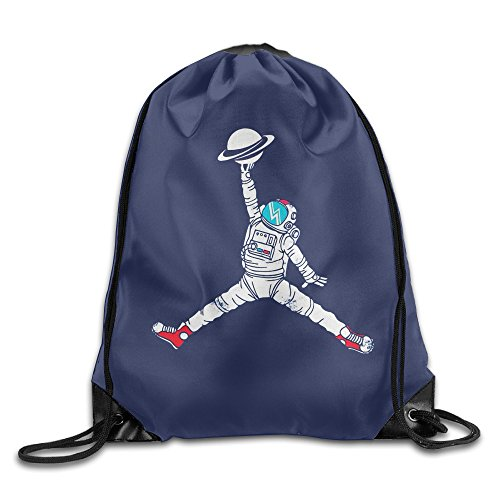 SAXON13 Unisex Geek Spaceman Dunk Drawstring Backpack