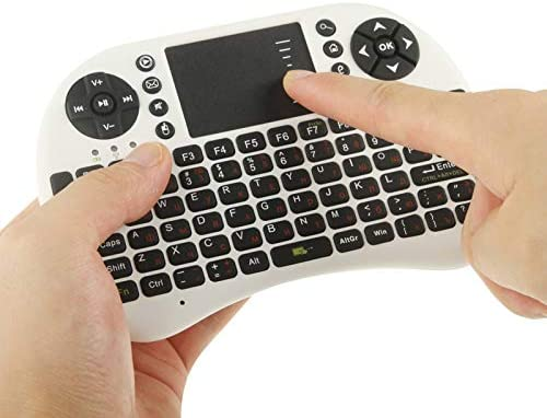 White English Keyboard//Russian Keyboard Color : White HUFAN UKB-500-RF 2.4GHz Mini Wireless Keyboard Mouse Combo with Touchpad /& USB Receiver