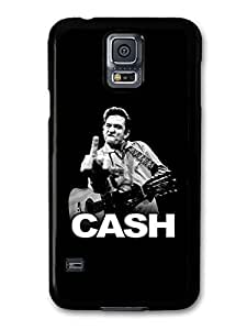 Johnny Cash Black and White Portrait with Finger case for Samsung Galaxy S5