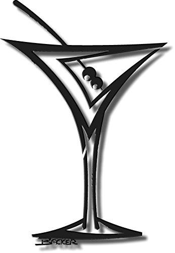 Amazon.com: Metal Wall Art Backer Art Off the Wall-Straight Martini ...