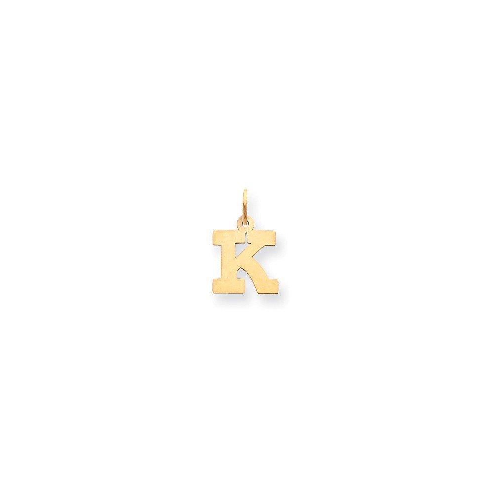 Mia Diamonds 14k Yellow Gold Small Block InitialK Charm