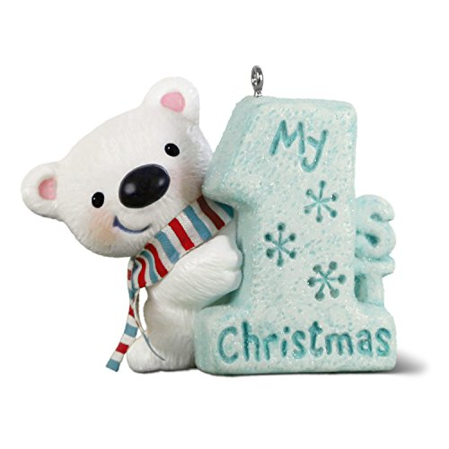 Hallmark Keepsake Ornament 2018 Year Dated, My 1st Christmas Polar Bear, Baby