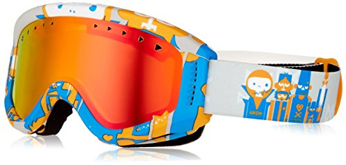 Anon Youth Tracker Goggles, Motley Frame, Red Amber Lens, One - Goggles Anon Otg