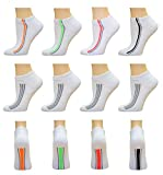 Top Step Women's No Show/Low Cut Performance Athletic Socks with Cushion Sole - 12 Pair